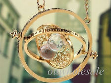 Harry Potter Charm Hourglass Necklace Pendant Hermione Granger Rotating Spin