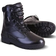 MENS LEATHER BOOTS 3M THINSULATE COMBAT PATROL BRITISH ARMY CADET BIKER SECURITY