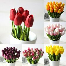 12/24Pcs Wedding Home Decor PU Tulip Artificial Flowers Flowers Wedding Decor
