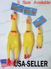 Pet Dogs Puppy Shrilling Rubber Chicken Chew Toy Sound Squeeze Screaming Toy USA