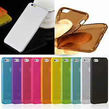 iPhone 6 6 Plus TPU Silikon Schutz Hülle Case Cover Tasche transparent Klar Foli