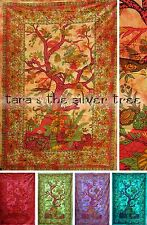 6 Colour TREE OF LIFE Hippy THROW Sofa BEDSPREAD Wall hanging SINGLE uk Supplier