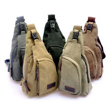 Men's Vintage Canvas Shoulder Bag Sports Travel Bag Crossbody Casual Bicycle Bag