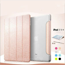Ultra Slim Magnetic Flip PU Leather Smart Stand Case Cover For Apple iPad 2 3 4