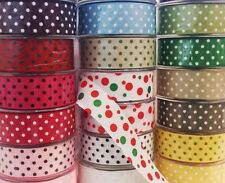 Polka Dot Spots Print Arts Craft Bow Gift Wrap Tape Grosgrain Dress Ribbon 38mm