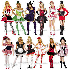 Womens Fancy Dress Halloween Sexy Outfit Naughty Sizes XS-XL