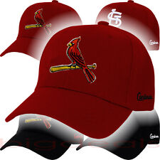 St Louis Cardinals Cap STL Velcro MLB Logo Hat Embroidered On Field Game Home