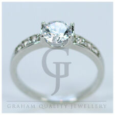 18Kt White Gold Filled White Sapphire Ladies Paveset Ring Size M O R