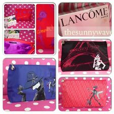 NEW LANCOME Cosmetic Travel Makeup Toiletries Pencil Bag Case Pouch ~ You Choose