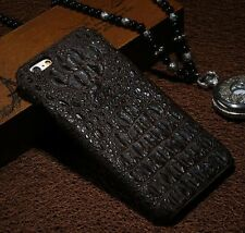 For iPhone 6 /6 Plus Real Genuine Crocodile Leather Skin Protect Back Cover Case