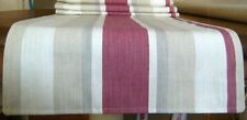 "Table Runner Classic Awning Stripe Cassis Pattern Laura Ashley Fabric 54"" x 14"""