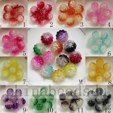 Double Color 20pcs 10x12MMJewelry Berry Resin Rhiestone Beads