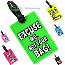 Luggage Tag Travel Bag Label Name & Address ID Contact, Suitcase, Baggage - NEW