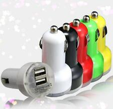 Car Charger Adaptor Bullet Dual USB 2 Port for iPod iPhone 4 5 C S Samsung  LOUS