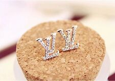 2014 new Fashion Letters full of diamond stud earrings elegant woman jewelry 936