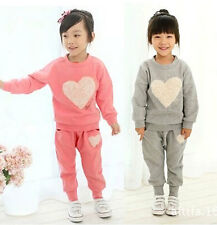 Hot New Lovely Kids Girls Baby Long Sleeve Top+Trousers Pants Child Outfits Suit