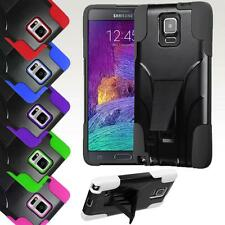 For Samsung Galaxy Note 4 Impact Rubber Hard Protective Case Cover W/Stand