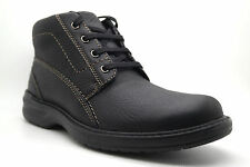 NEW CLARKS SHERWIN HI MENS LEATHER BLACK OR BROWN CASUAL LACES COMFORTABLE BOOTS