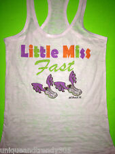 Marathon little miss fast shirt workout running fitness gym athletic apparel