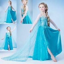 ~Disney FROZEN Princess Anna Elsa Queen Girl Cosplay Costume Party Formal Dress