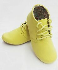 New Women's Fashion Boots Ankle Flat Heel Xoford Lace Up Round Toe Flat Shoes
