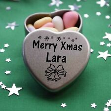 Merry Xmas Lara Mini Heart Tin Gift Present Happy Christmas Stocking Filler