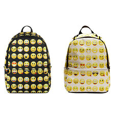Kids Cute Emoji Backpack School Book Bag Students Bags Laptop Backpacks