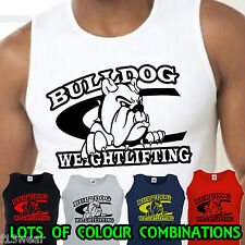 BULLDOG WEIGHTLIFTING  VEST gym bodybuilding muscle golds powerhouse world hench