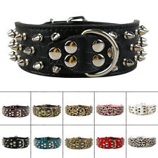 Brand New Spiked Studded PU Leather Pet Dog Collars For Meduim Large Breeds