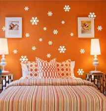 18 X Snowflakes Christmas Decoration wall stickers, wall art, wall graphics UK