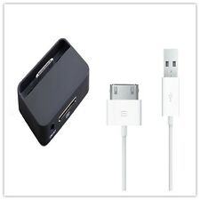 DESKTOP DOCK CHARGER CRADLE STAND DOCKING STATION & USB CABLE FOR IPHONE 4 4S UK