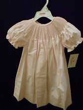 NEW READY TO SMOCK SOFT PINK BISHOP DRESS SHORT SLEEVES ROSALINA HEIRLOOM