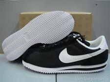 NIKE CORTEZ BASIC NYLON '06 BLACK/WHITE CLASSIC RUNNING CASUAL US MENS SIZES