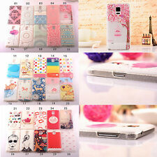 Slim Painted Cute Cartoon clear matte case cover for samsung galaxy note 4 3 S5