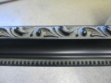Ornate Victorian Black w/ Beads Custom-Made Wood Picture Frame (#10187)