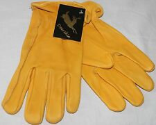 North American Trading Work Gloves Deerskin Leather Unlined Mens New NWT
