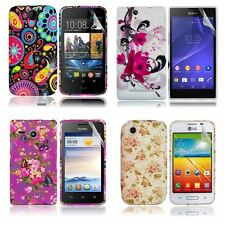 Silicone TPU Gel Case Cover Sleeve Skin For Various Mobile Phones+Screen Guard