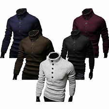 Fashion Casual Mens Slim Fit Pullover Sweater Coat Turtleneck Knitwear Shirts