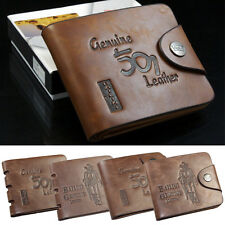 Men's Pockets Purse Card PU Leather Wallet Folded Bifold New Fashion Brown New