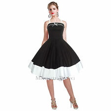 Maggie Tang 50s Vintage Retro Swing Jive Rockabilly Pinup Party Dress 502BK-TT