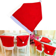 Christmas Decorations Santa Hat Chair Covers Dinner Chair Xmas Cap Sets New hot
