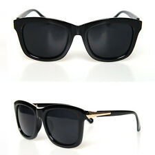 vb HOMME Punk Indie Retro Chic Gold-Side Wayfarers Sunglasses OH7