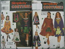 GIRLS or MISSES IRISH NATIONAL DANCE COSTUME SEWING PATTERN 9654 or 9131