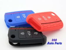 Silicone Key Cover Decorative line Fits For VW Golf MK7 3 Color to Choose