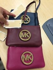 NWT MICHAEL KORS FULTON  LEATHER WALLET WRISTLET