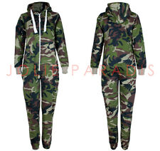 ADULTS CAMOUFLAGE ARMY ONESIE ALL IN ONE COMBAT PLAY JUMP SUIT UNISEX MEN WOMENS