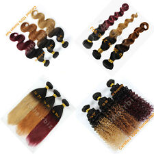 Ombre Human Hair Extension Weft 6A Top Quality Two Tone #1B To 99J/27/30 100g/pc