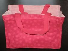 NIP Thirty One All-In-One Organizer Pink Lotsa Dots Grey Pin Dots