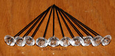 10/25/50/100 Clear Acrylic Diamante Style Pins,Buttonholes,Wedding,Bouquet.