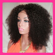 Mongolian human hair kinky curly wigs Front lace wigs/ Full lace wigs